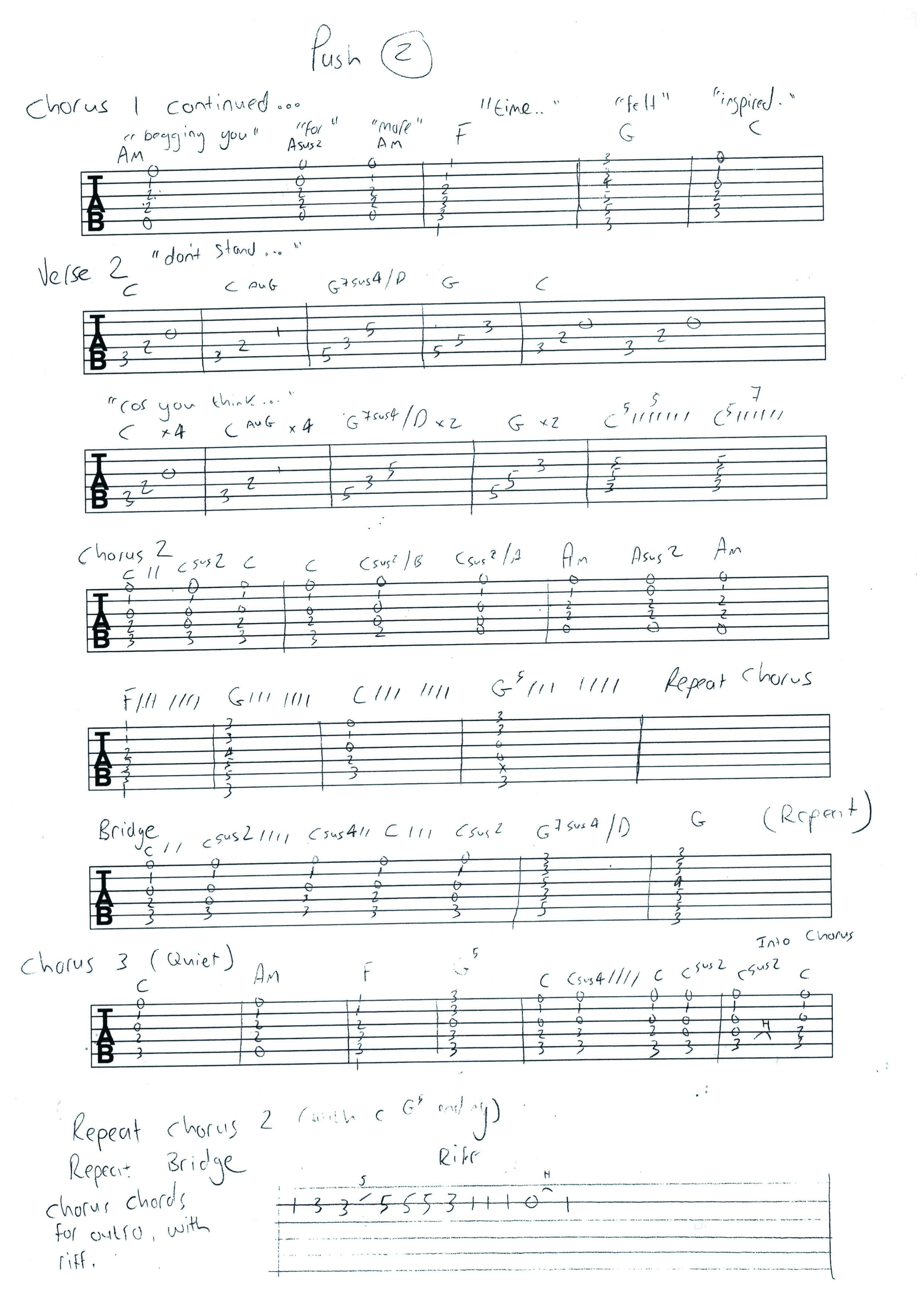 Guitar Tab Paul Hodgsons Blog